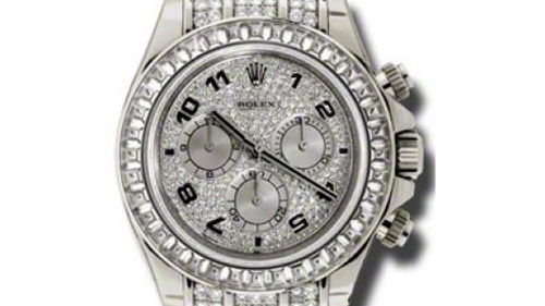 Rolex Cosmorgarph Daytona Pave Diamond Dial 18K White Gold Case Set with 48 Diamonds Leather Strap Men's Watch
